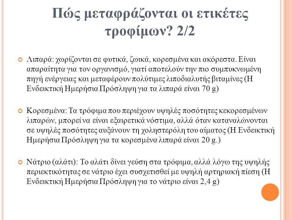 Πώς μεταφράζονται οι ετικέτες τροφίμων 2/2