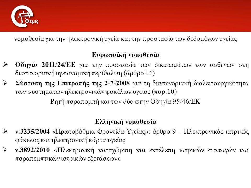 Ρητή παραπομπή και των δύο στην Οδηγία 95/46/ΕΚ