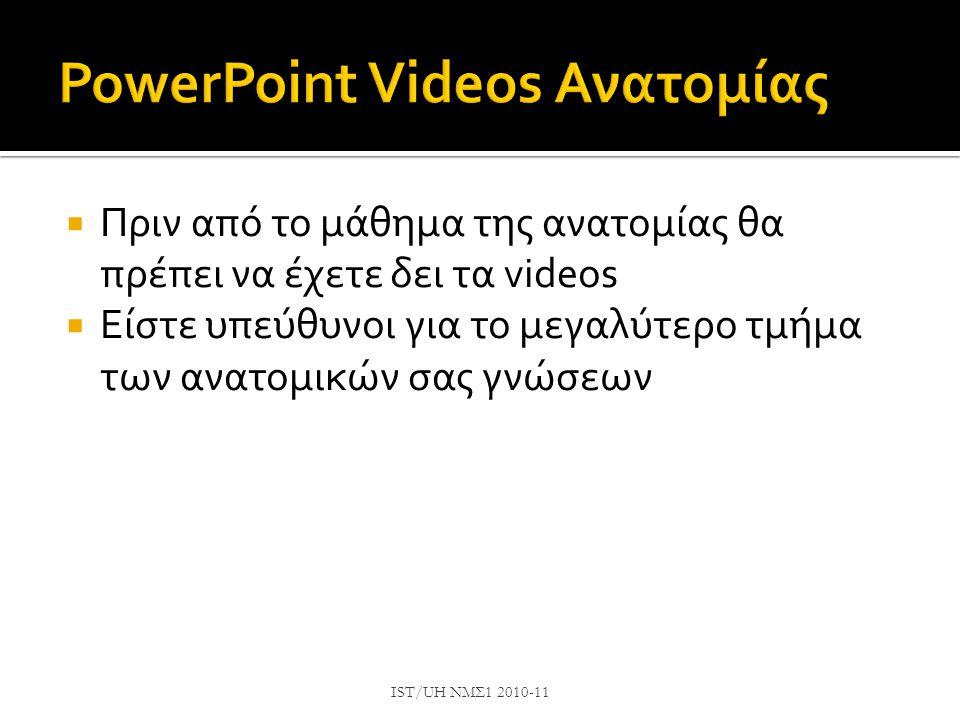 PowerPoint Videos Ανατομίας
