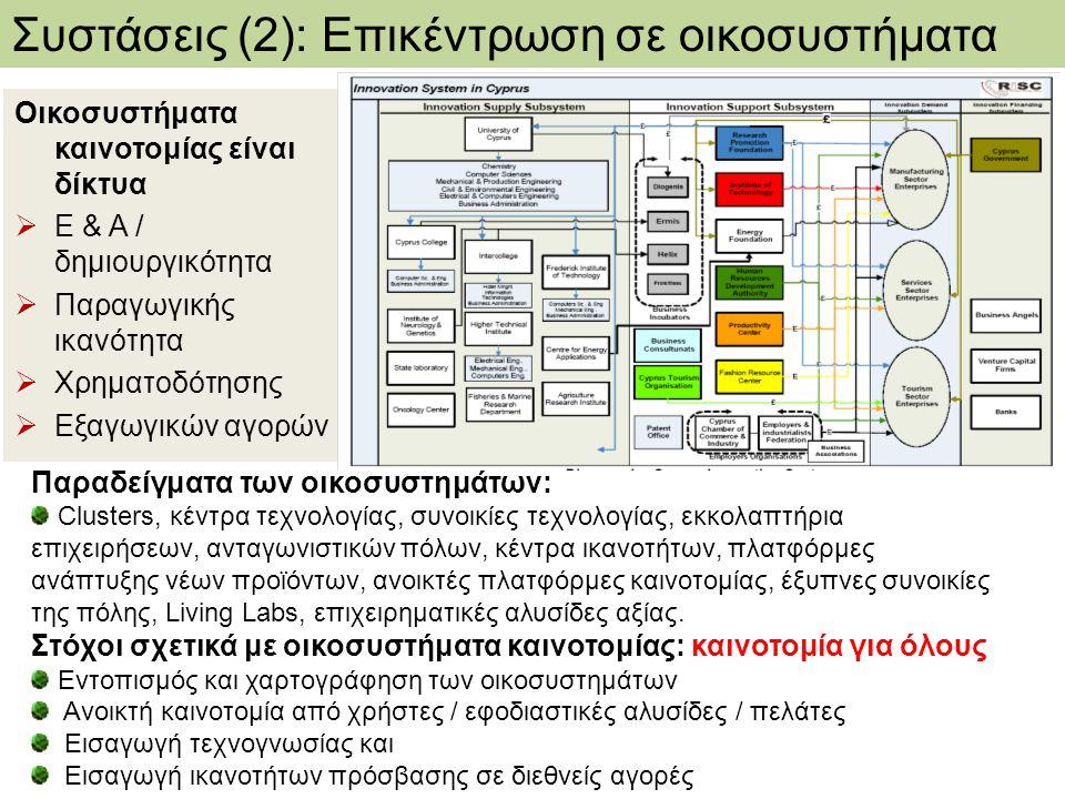 Συστάσεις (2): Επικέντρωση σε οικοσυστήματα