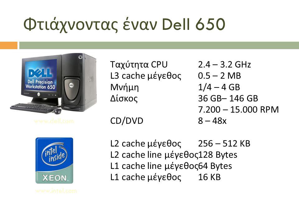 Φτιάχνοντας έναν Dell 650 Ταχύτητα CPU 2.4 – 3.2 GHz