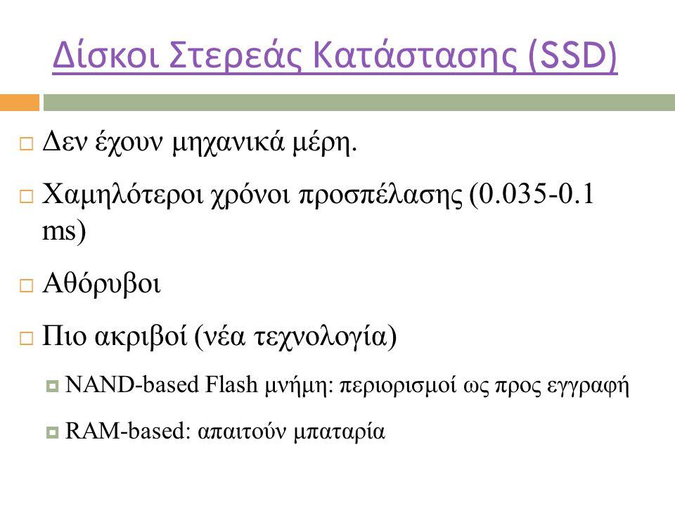 Δίσκοι Στερεάς Κατάστασης (SSD)