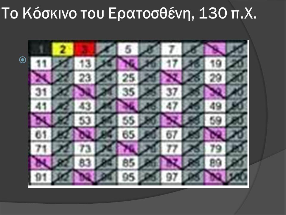 Το Κόσκινο του Ερατοσθένη, 130 π.Χ.