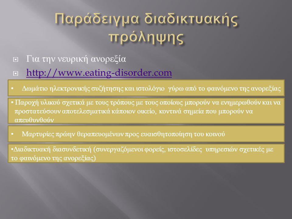Παράδειγμα διαδικτυακής πρόληψης