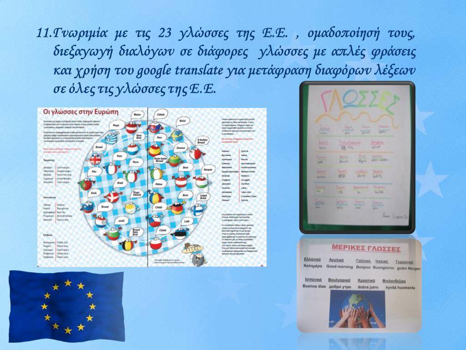 11. Γνωριμία με τις 23 γλώσσες της Ε. Ε