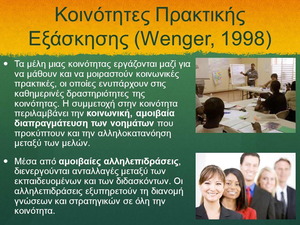 Κοινότητες Πρακτικής Εξάσκησης (Wenger, 1998)