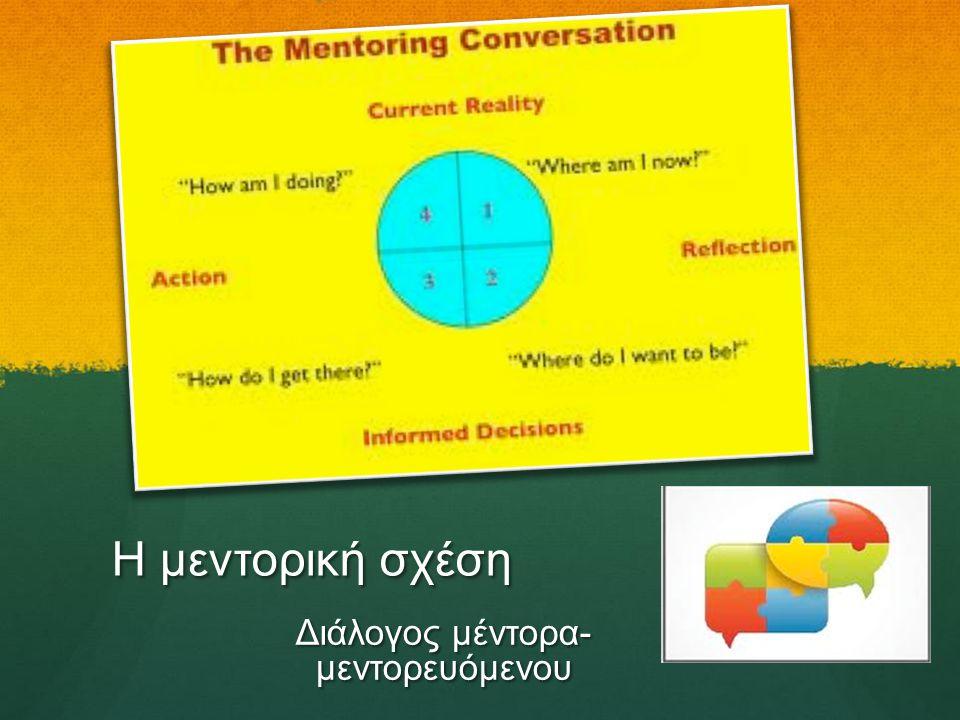Διάλογος μέντορα- μεντορευόμενου