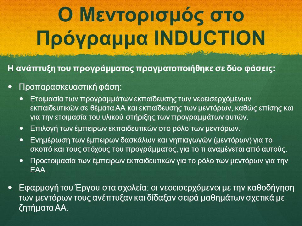 Ο Μεντορισμός στο Πρόγραμμα INDUCTION