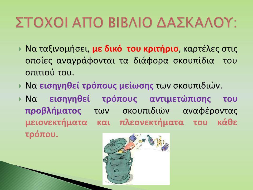 ΣΤΟΧΟΙ ΑΠΟ ΒΙΒΛΙΟ ΔΑΣΚΑΛΟΥ:
