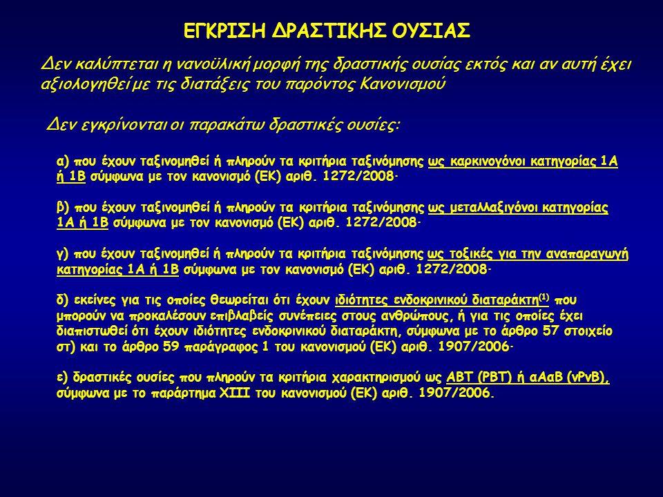 ΕΓΚΡΙΣΗ ΔΡΑΣΤΙΚΗΣ ΟΥΣΙΑΣ