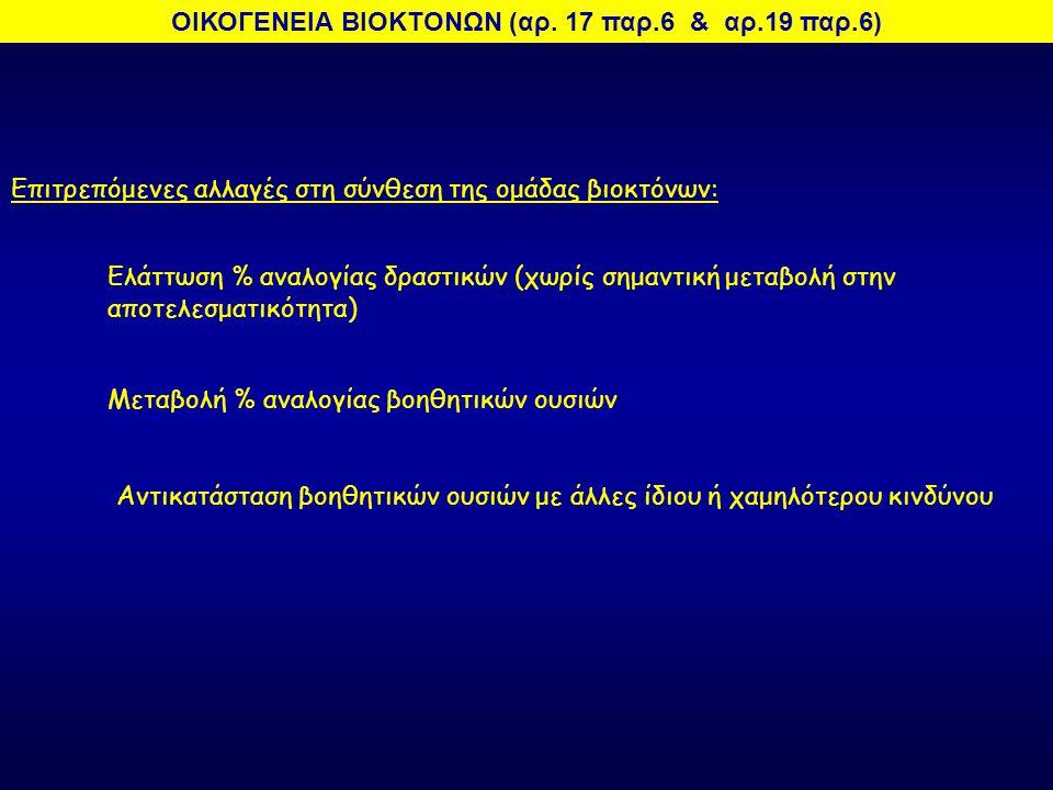 ΟΙΚΟΓΕΝΕΙΑ ΒΙΟΚΤΟΝΩΝ (αρ. 17 παρ.6 & αρ.19 παρ.6)
