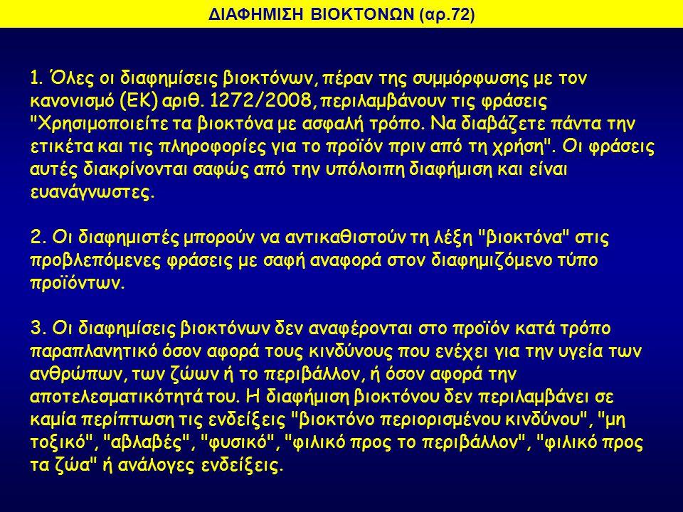 ΔΙΑΦΗΜΙΣΗ ΒΙΟΚΤΟΝΩΝ (αρ.72)