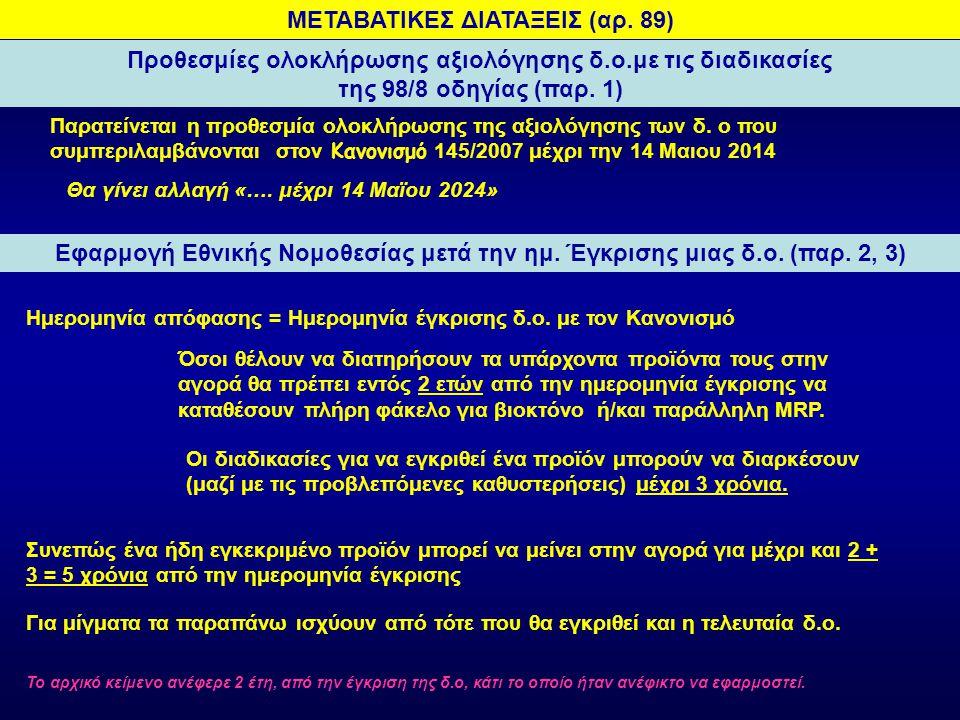 ΜΕΤΑΒΑΤΙΚΕΣ ΔΙΑΤΑΞΕΙΣ (αρ. 89)