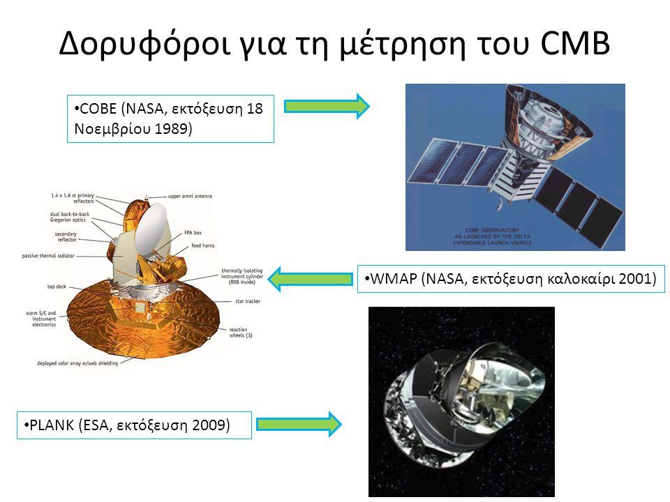 Δορυφόροι για τη μέτρηση του CMB