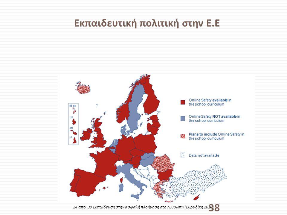 Εκπαιδευτική πολιτική στην Ε.Ε