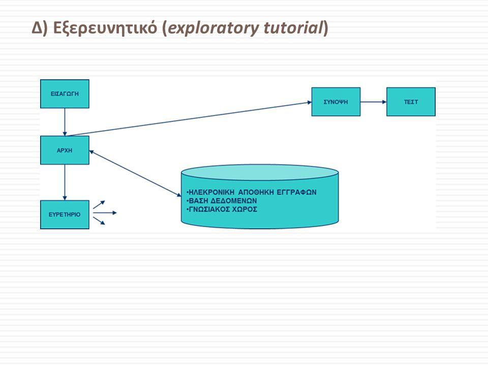 Δ) Εξερευνητικό (exploratory tutorial)