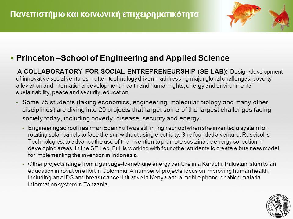 Πανεπιστήμιο και κοινωνική επιχειρηματικότητα