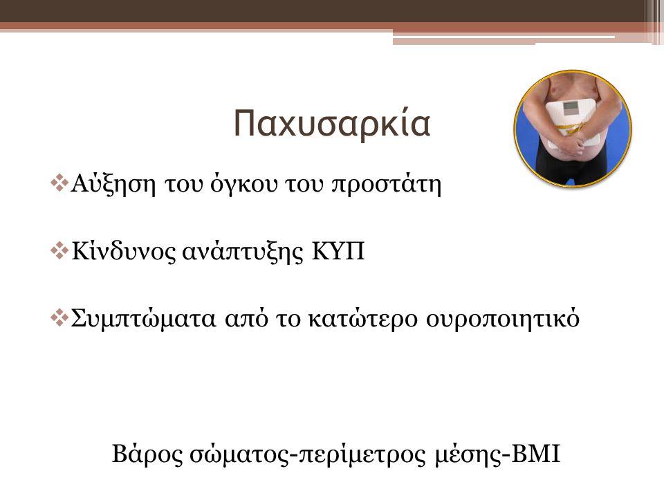 Βάρος σώματος-περίμετρος μέσης-BMI