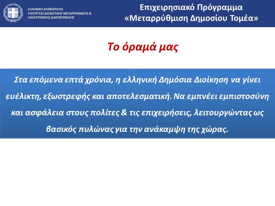 Επιχειρησιακό Πρόγραμμα «Μεταρρύθμιση Δημοσίου Τομέα»