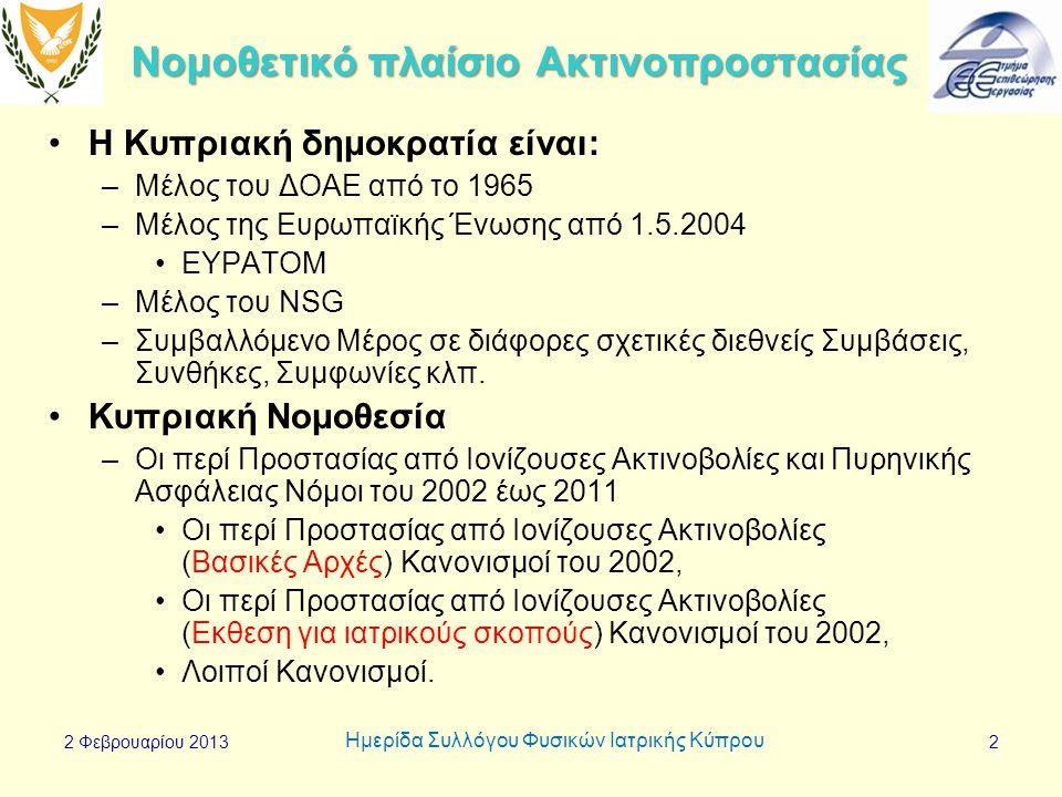 Νομοθετικό πλαίσιο Ακτινοπροστασίας