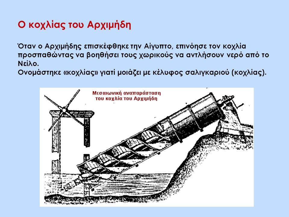 Ο κοχλίας του Αρχιμήδη