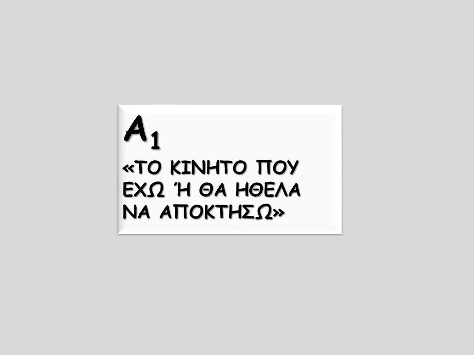Α1 «ΤΟ ΚΙΝΗΤΟ ΠΟΥ ΕΧΩ Ή ΘΑ ΗΘΕΛΑ ΝΑ ΑΠΟΚΤΗΣΩ»