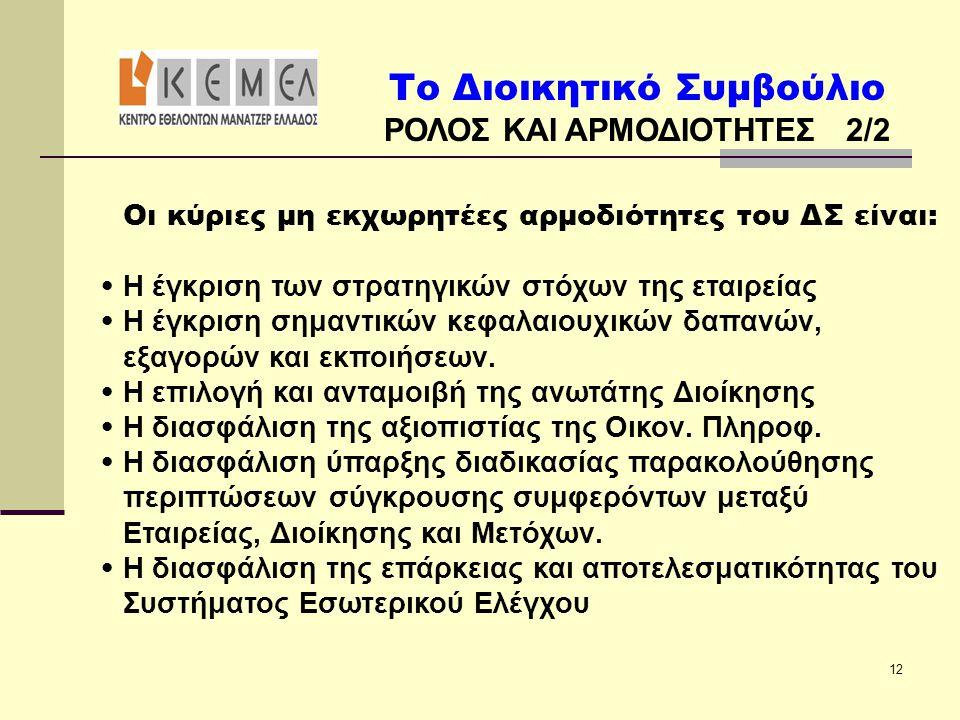 ΡΟΛΟΣ ΚΑΙ ΑΡΜΟΔΙΟΤΗΤΕΣ 2/2