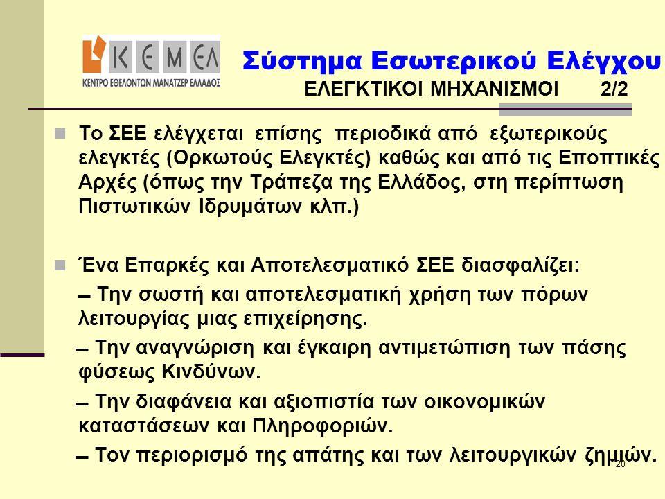 ΕΛΕΓΚΤΙΚΟΙ ΜΗΧΑΝΙΣΜΟΙ 2/2