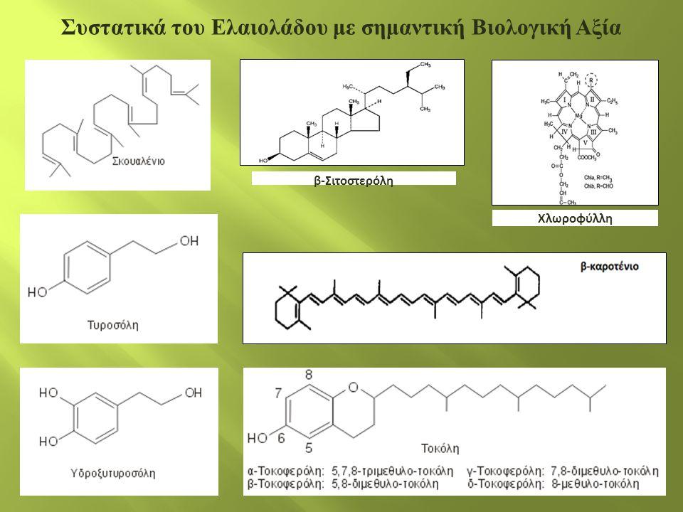 Συστατικά του Ελαιολάδου με σημαντική Βιολογική Αξία