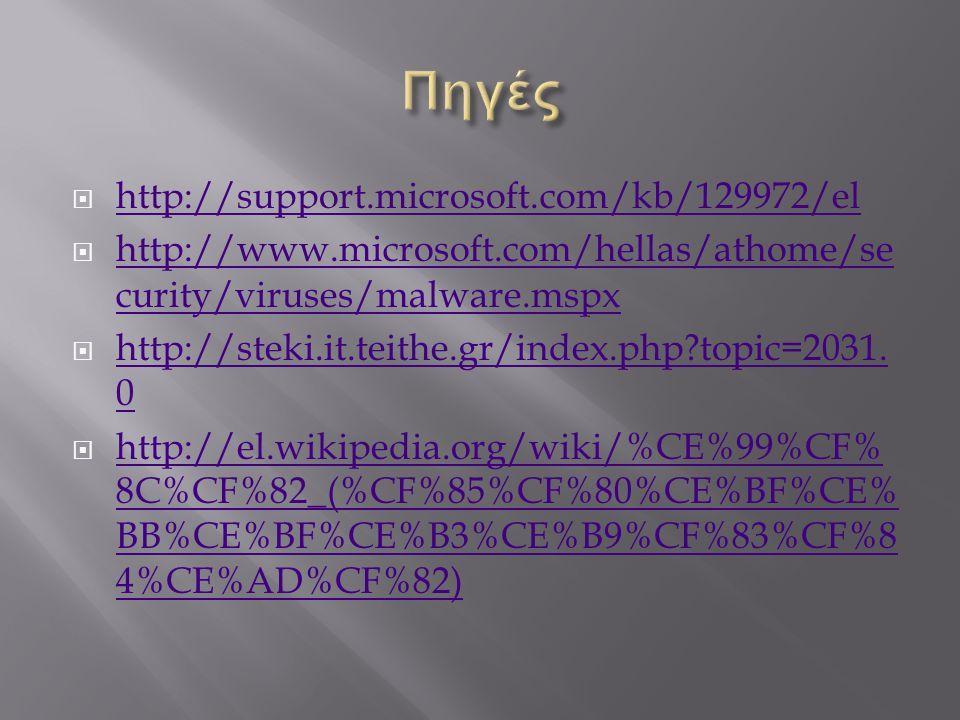 Πηγές http://support.microsoft.com/kb/129972/el
