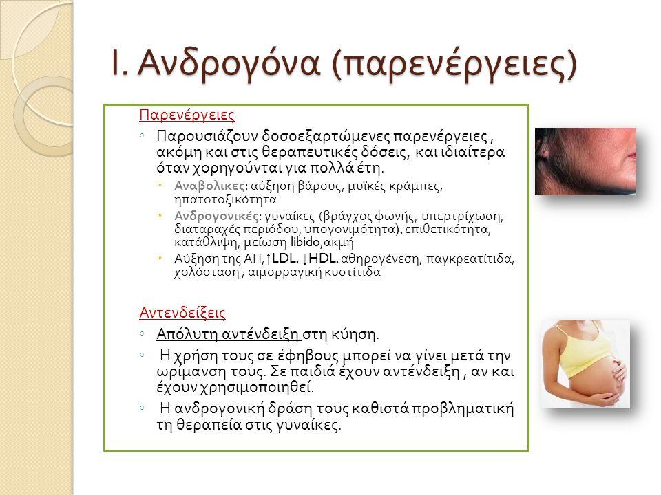 Ι. Ανδρογόνα (παρενέργειες)