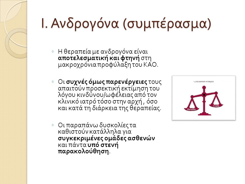 Ι. Ανδρογόνα (συμπέρασμα)