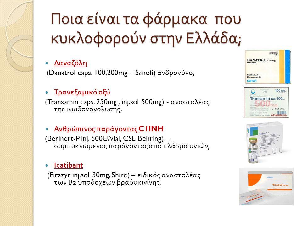 Ποια είναι τα φάρμακα που κυκλοφορούν στην Ελλάδα;
