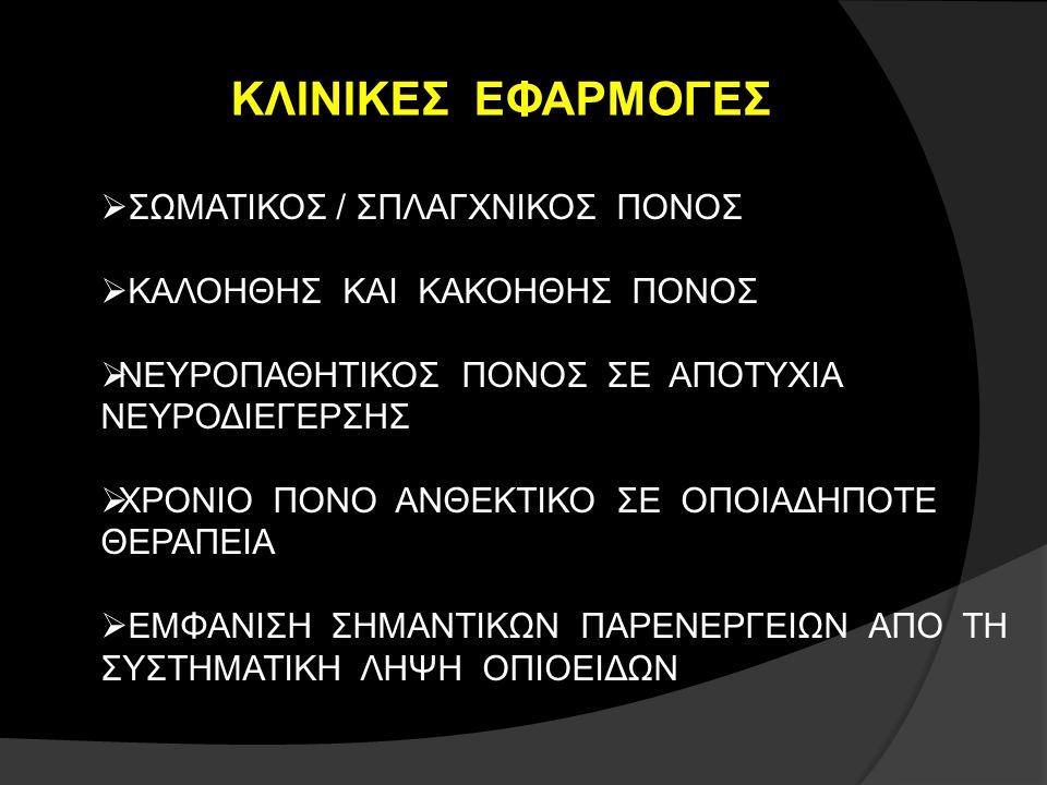 ΚΛΙΝΙΚΕΣ ΕΦΑΡΜΟΓΕΣ ΣΩΜΑΤΙΚΟΣ / ΣΠΛΑΓΧΝΙΚΟΣ ΠΟΝΟΣ