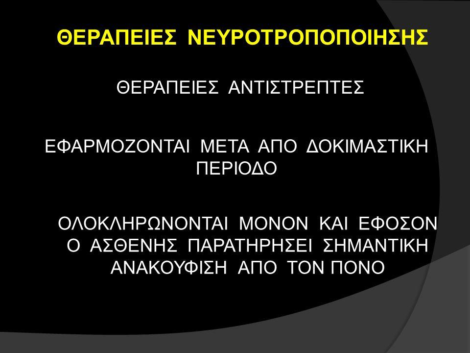 ΘΕΡΑΠΕΙΕΣ ΝΕΥΡΟΤΡΟΠΟΠΟΙΗΣΗΣ