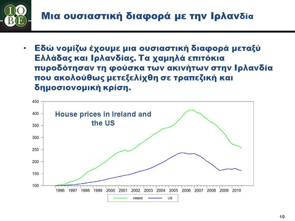 Μια ουσιαστική διαφορά με την Ιρλανδία