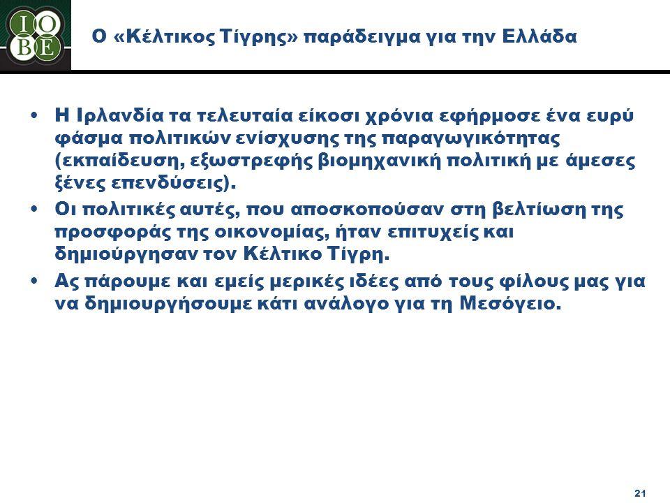 Ο «Κέλτικος Τίγρης» παράδειγμα για την Ελλάδα