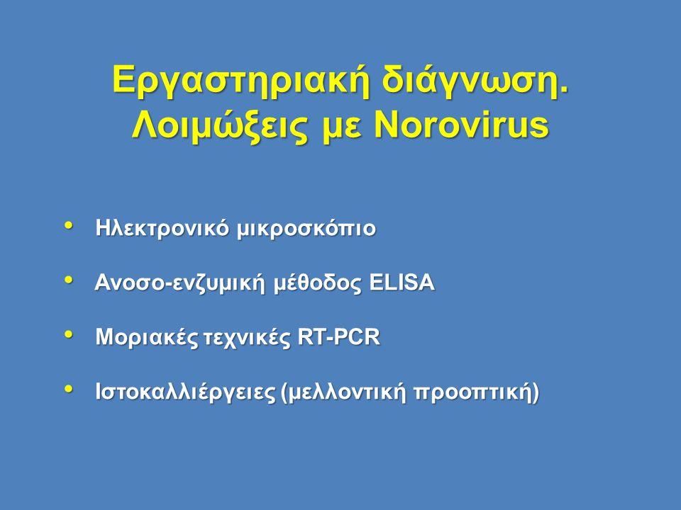Εργαστηριακή διάγνωση. Λοιμώξεις με Norovirus