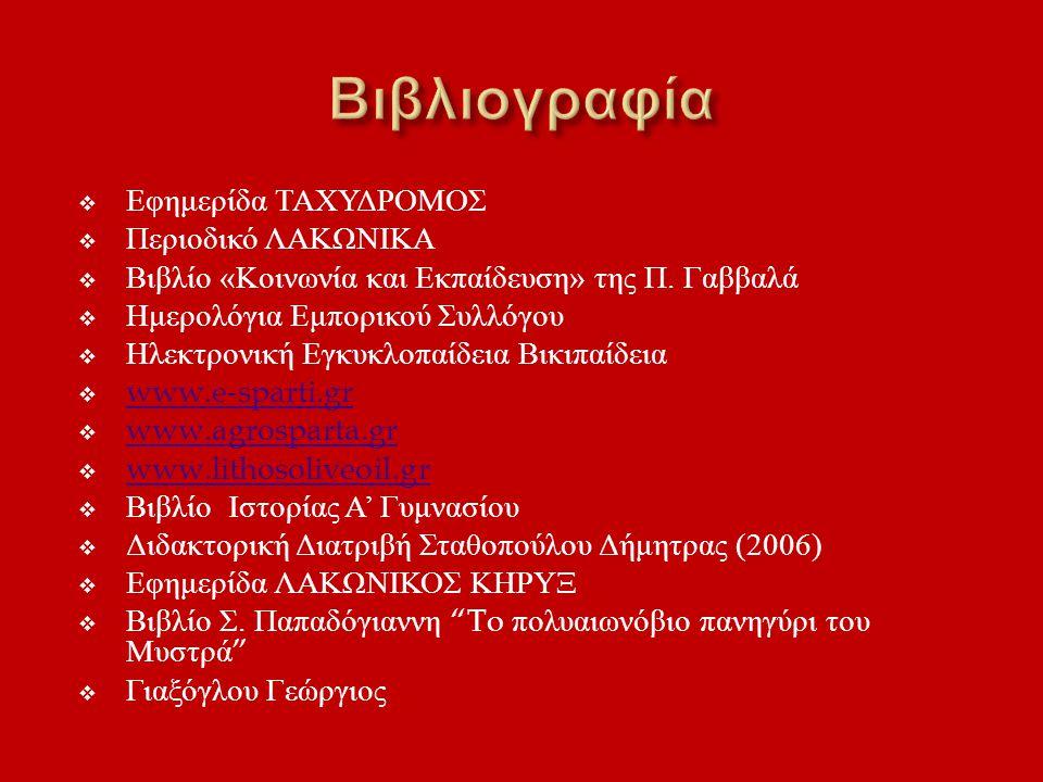 Βιβλιογραφία Εφημερίδα ΤΑΧΥΔΡΟΜΟΣ Περιοδικό ΛΑΚΩΝΙΚΑ
