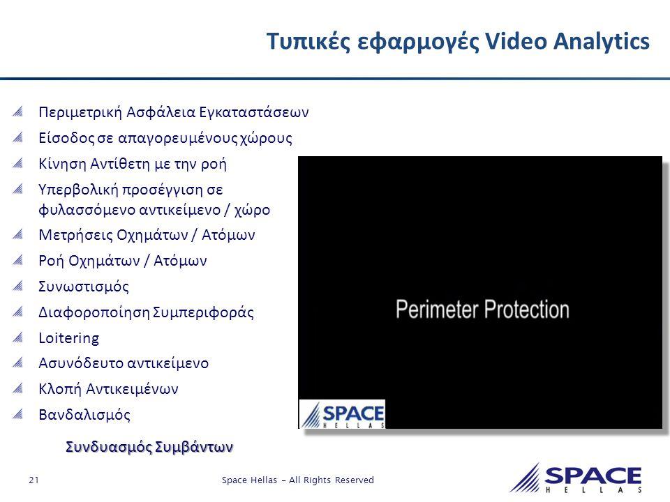 Τυπικές εφαρμογές Video Analytics