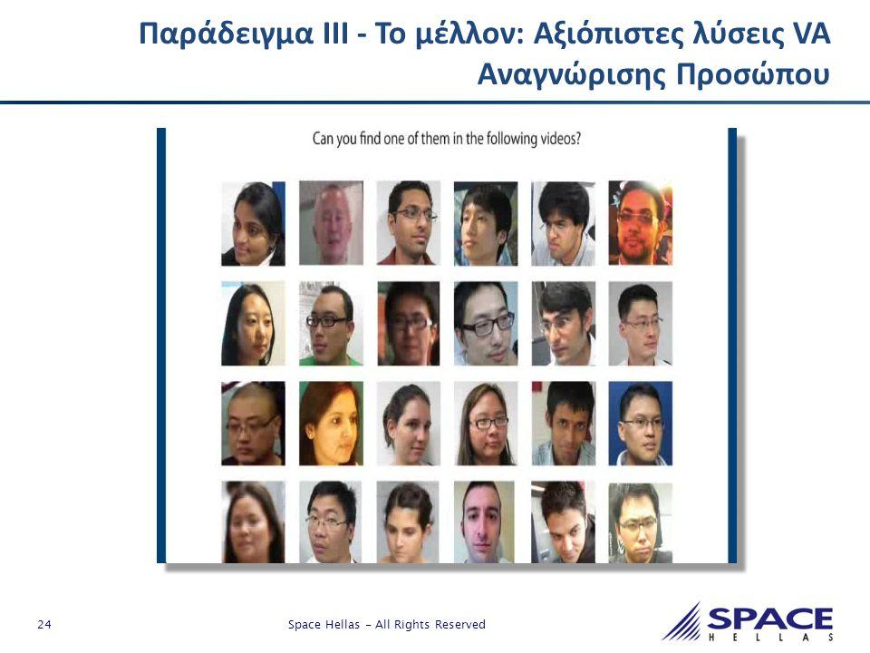 Παράδειγμα ΙΙΙ - Το μέλλον: Αξιόπιστες λύσεις VA Αναγνώρισης Προσώπου