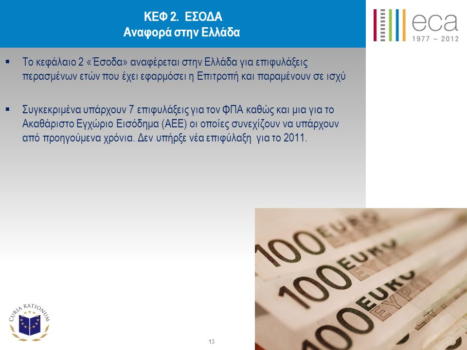 ΚΕΦ 2. ΕΣΟΔΑ Αναφορά στην Ελλάδα