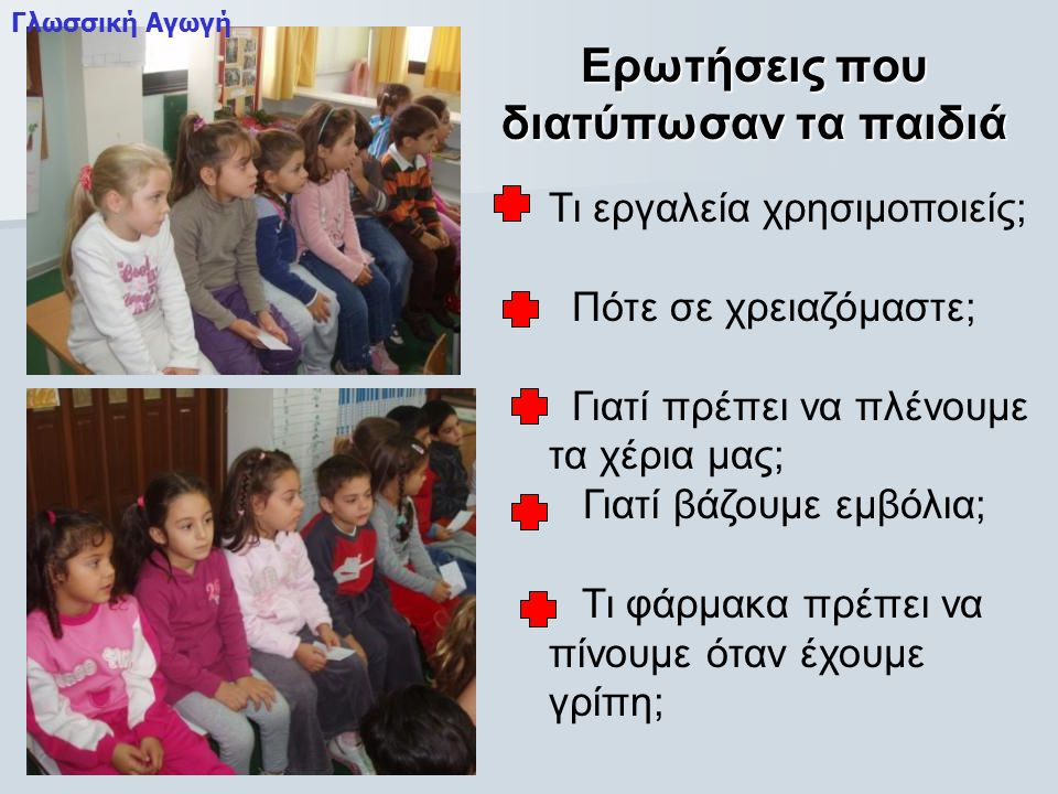 Ερωτήσεις που διατύπωσαν τα παιδιά