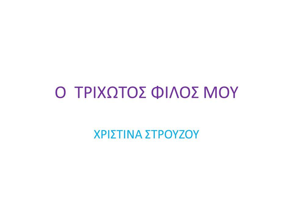 Ο ΤΡΙΧΩΤΟΣ ΦΙΛΟΣ ΜΟΥ ΧΡΙΣΤΙΝΑ ΣΤΡΟΥΖΟΥ