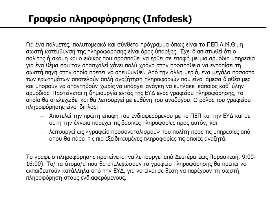 Γραφείο πληροφόρησης (Infodesk)