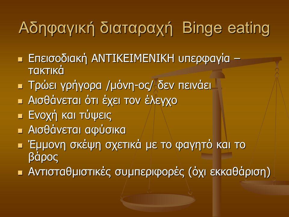 Αδηφαγική διαταραχή Binge eating