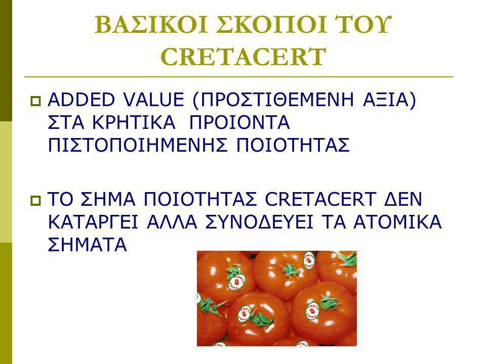 ΒΑΣΙΚΟΙ ΣΚΟΠΟΙ ΤΟΥ CRETACERT