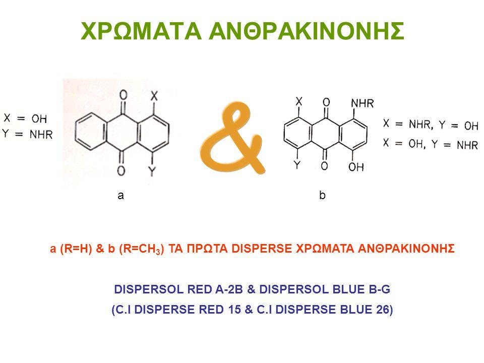 ΧΡΩΜΑΤA ΑΝΘΡΑΚΙΝΟΝΗΣ & a b