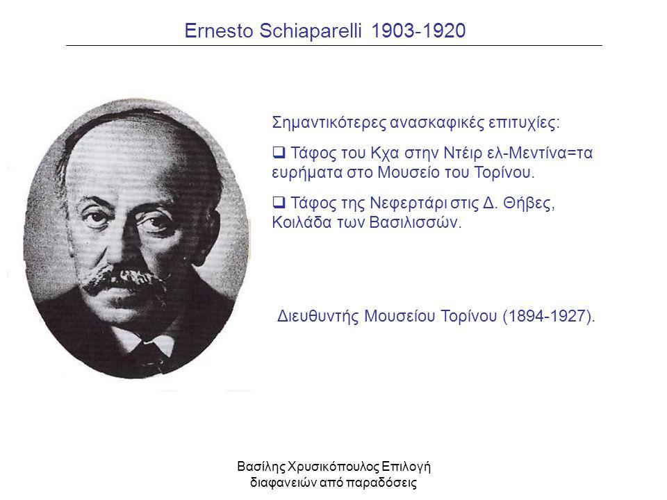 Ernesto Schiaparelli 1903-1920