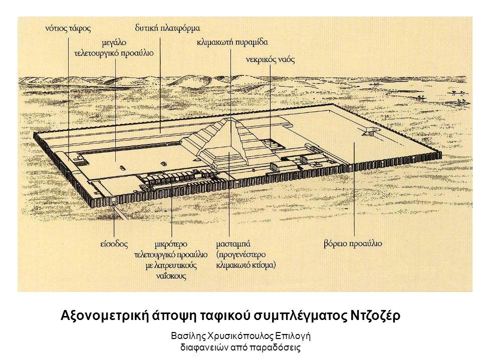 Αξονομετρική άποψη ταφικού συμπλέγματος Ντζοζέρ